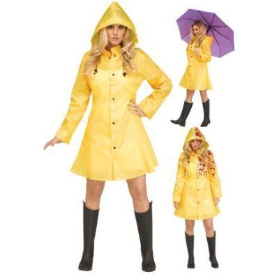 Yellow Raincoat Adult Costume