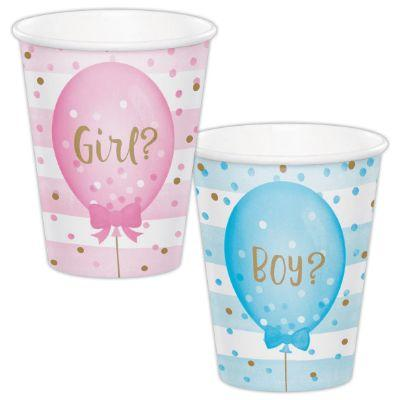 Bow Or Bow Tie Paper Cups 9 oz. - 8 Pack