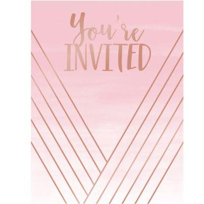 Rose All Day Invitations - 8 Pack