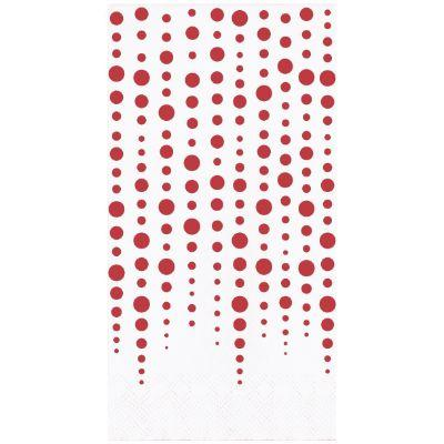 Ruby Sparkle 40th Anniversary Guest Towel Napkins - 16 Pack