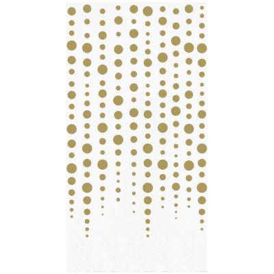 Gold Sparkle 50th Anniversary Guest Towel Napkins - 16 Pack