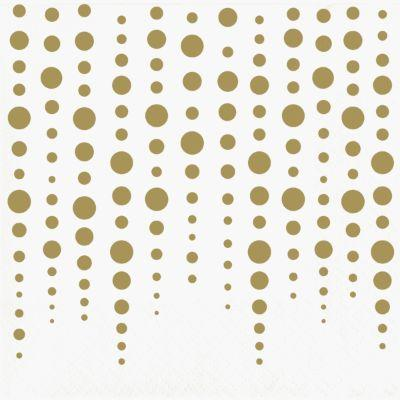 Gold Sparkle 50th Anniversary Beverage Napkins - 16 Pack