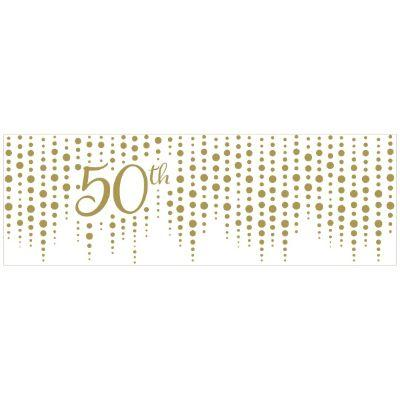 Gold Sparkle 50th Anniversary Banner
