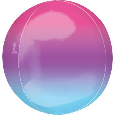 Purple & Blue Ombre Orbz Mylar Balloon 16