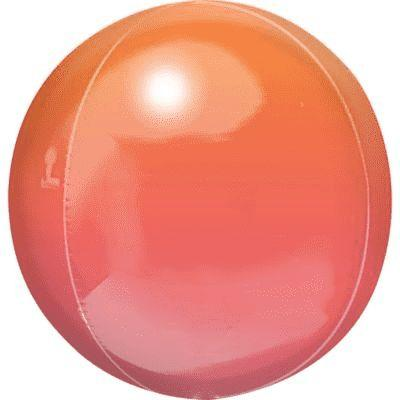 Ombre Red & Orange Orbz Mylar Balloon 16