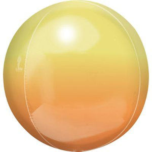 Ombre Yellow & Orange Orbz Mylar Balloon 16""