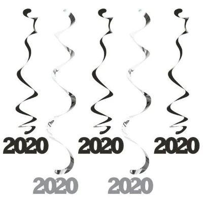 2020 Black Hanging Decorations - 5 Pack