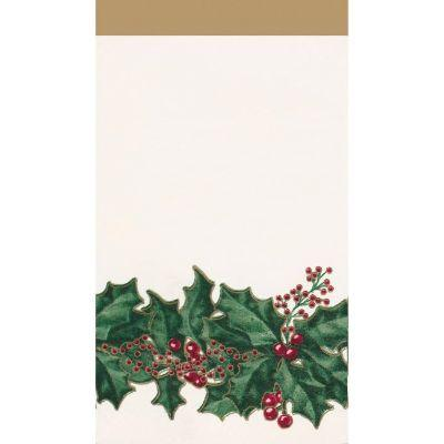 Winter Holly Guest Towel Napkin - 36 Pack