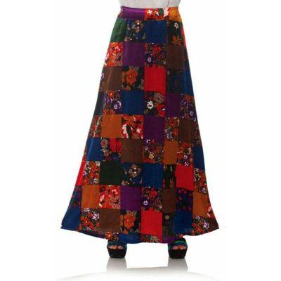 70s Long Patchwork Skirt Adult