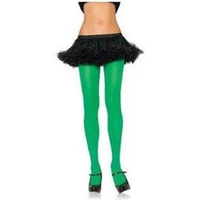 Green Neon Nylon Tights Adult