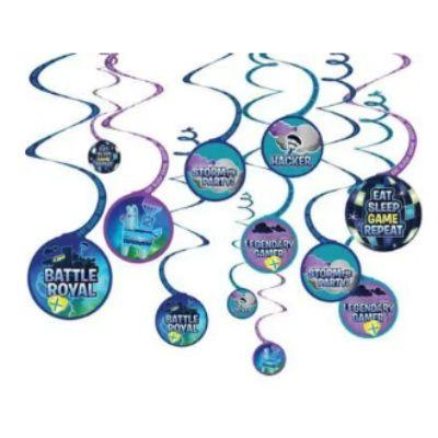 Battle Royal Swirl Decorations - 12 Pack