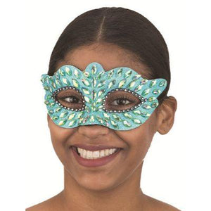 Silver Eye Mask With Jewels