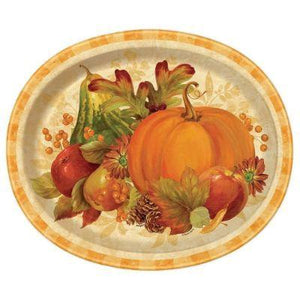 Pumpkin Harvest Oval Plate - 8 Pack