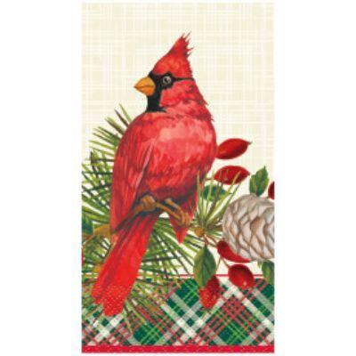 Red Cardinal Guest Towel Napkin - 16 Pack