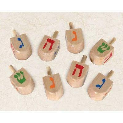 Wooden Dreidel - 8 Pack