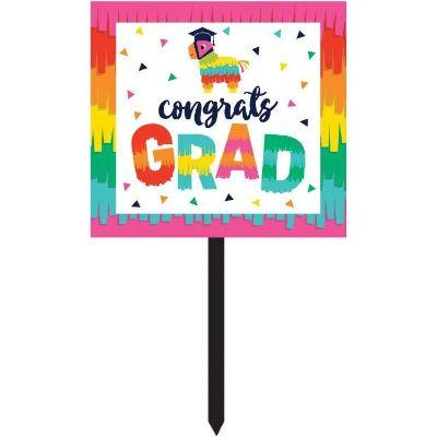 Fiesta Fun Graduation Yard Sign