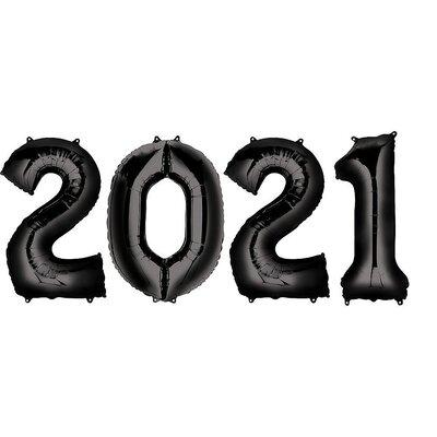 Black 2020 Mylar Balloon Set 40