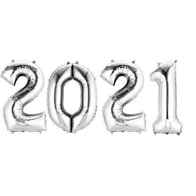 Silver 2020 Mylar Balloon Set 16