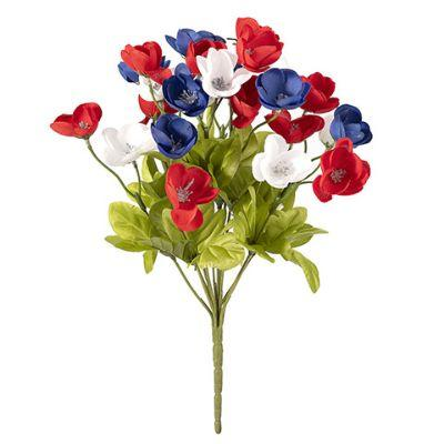 Red White & Blue Poppy Bush 12
