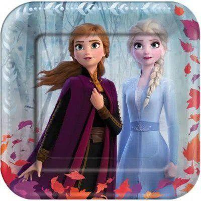 Frozen 2 Square Dinner Plate - 8 Pack