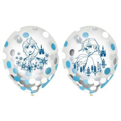 Frozen 2 Confetti Latex Balloon - 6 Pack