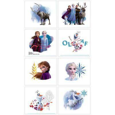 Frozen 2 Party Tattoos - 8 Pack