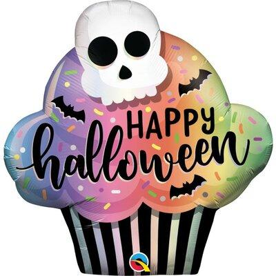 Happy Halloween Cupcake Mylar Balloon 32