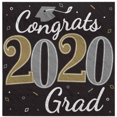 Congrats Grad 2020 Lunch Napkin - 36 Pack