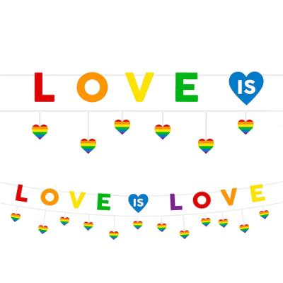 Rainbow Love is Love Banner - 2 Pack