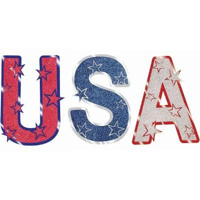 USA Glitter Cutouts