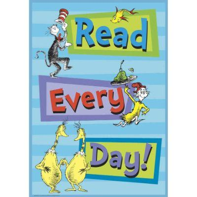Dr Seuss Read Every Day Poster