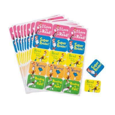 Dr Seuss Reading Stickers - 120 Pack