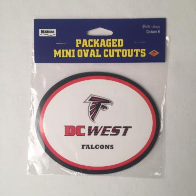 DC West Falcons Oval Cutouts - 6 Pack