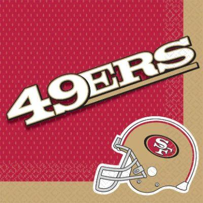 San Francisco 49ers Luncheon Napkin - 16 Pack