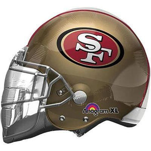 San Francisco 49ers Helmet Mylar Balloon 21""
