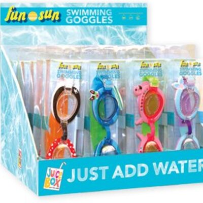 Swim Goggles Kids Shaped 1 Pack - Assorted