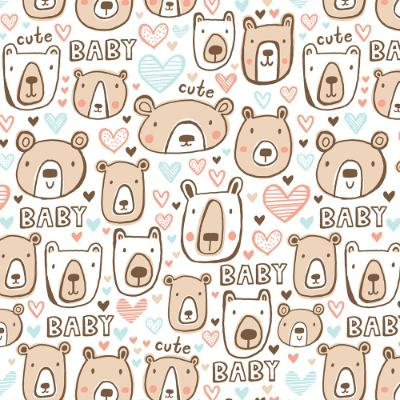 Bearly Cute Baby Gift Wrap 5'