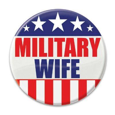 Military Wife Button