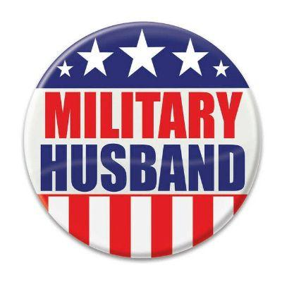 Military Husband Button