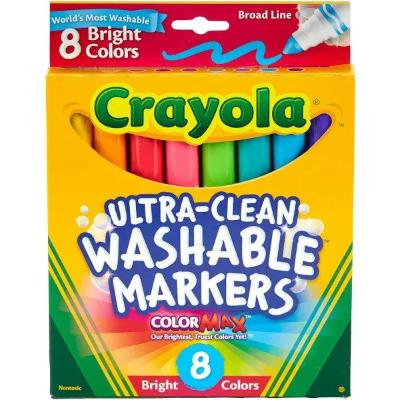 Crayola Bright Colors Markers Washable - 8 Pack