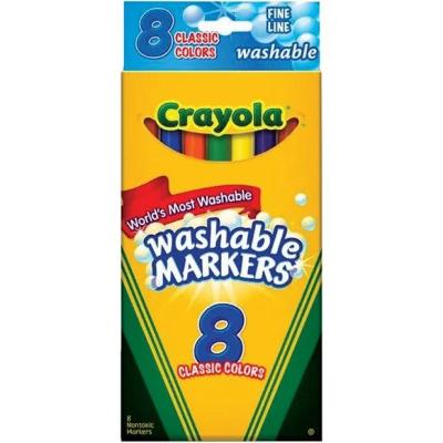Crayola Fine Line Markers Washable - 8 Pack