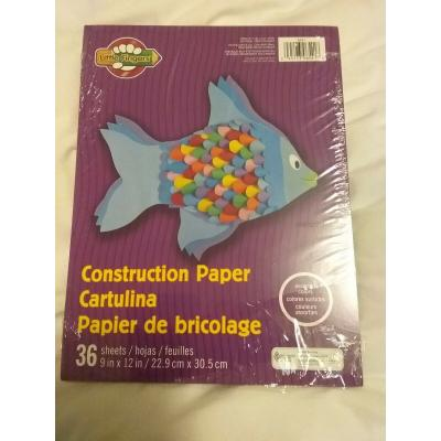 Construction Paper Pad Assorted Colors - 36 Pad