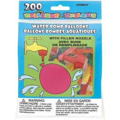 Water Bomb Balloons - 200 Pack