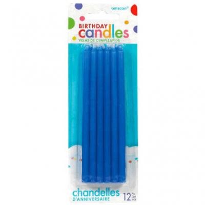 Blue Taper Candles - 12 Pack