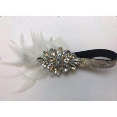 20s Silver Gems Flapper Headband