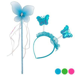 Butterfly Wand & Headband Costume Kit - Assorted