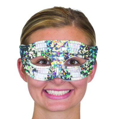 Silver Disco Eye Mask