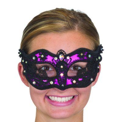 Pink Lace & Jewels Eye Mask