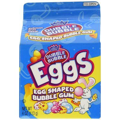 Double Bubble Gum Eggs Carton 4oz