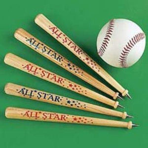 Wooden Baseball Bat Pen 12 Pack